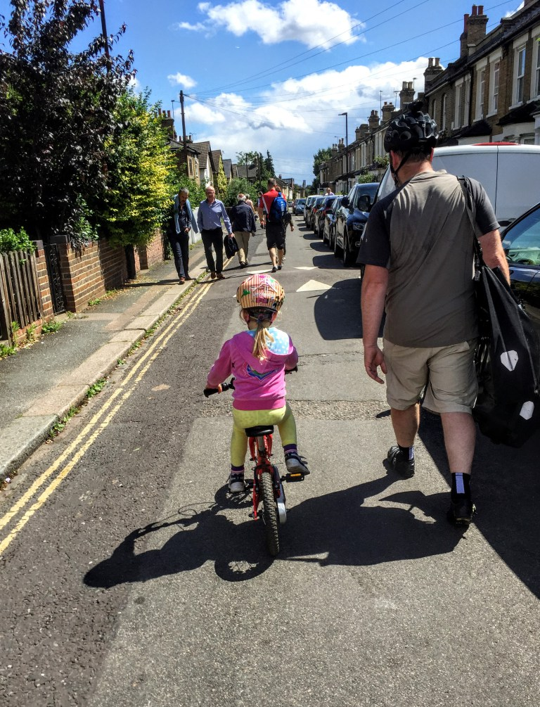 This road in Walthamstow used to be a rat run - after filtering, a child can cycle on it