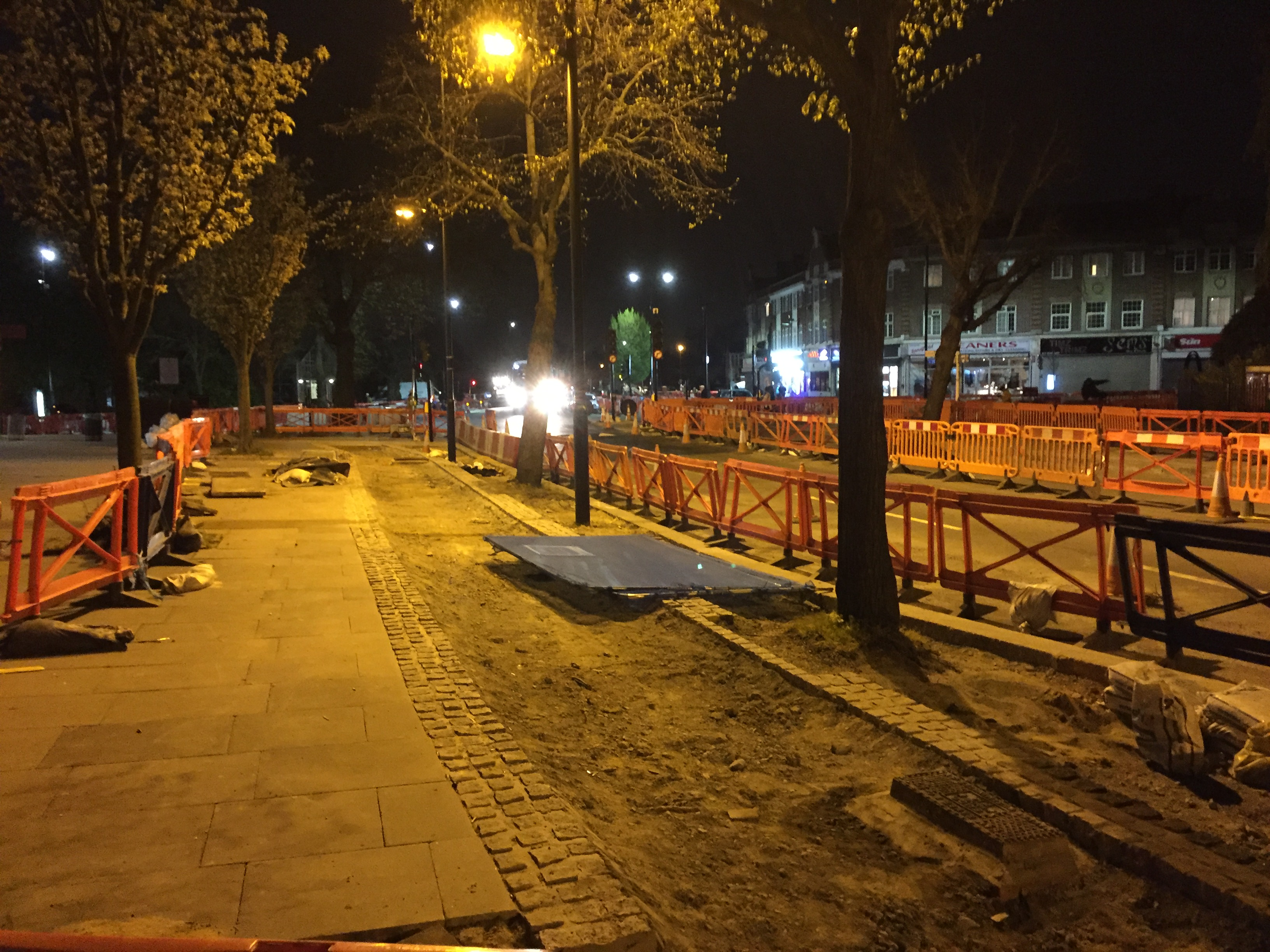 Ready for resurfacing at Church St junction