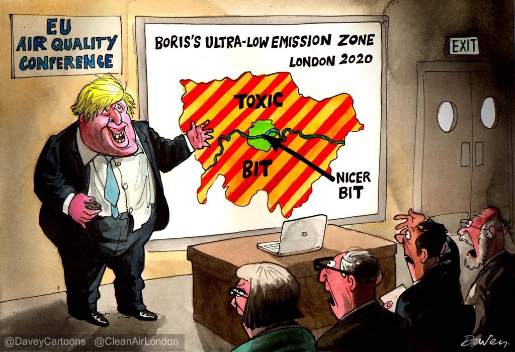 Boris Johnson's original ULEZ zone due in 2020