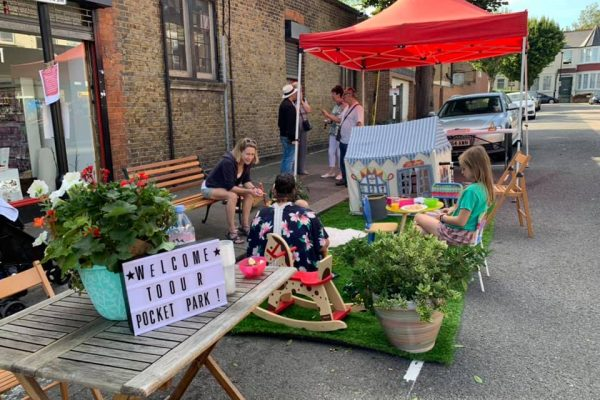 Pop-up parklet!