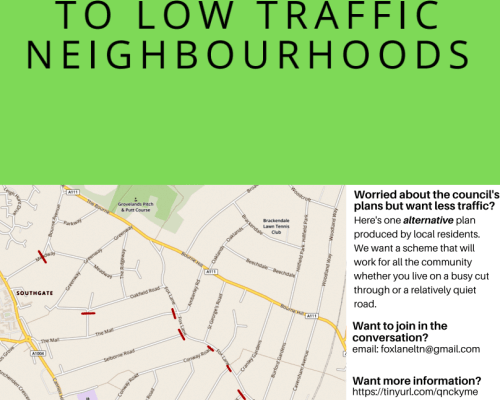 Residents come together to support the Fox Lane low traffic neighbourhood